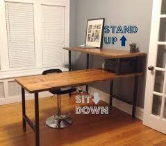 Modern Led Desk L Desk Imposing Modern Wood Standing Desk Uncommon Modern Wooden