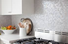 beautiful kitchen backsplash gray iridescent tile backsplash transitional kitchen