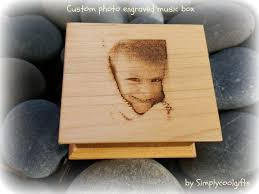 Engraved Music Box Photo Gift Photo Gift For Mom Custom Engraved By Simplycoolgifts