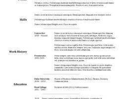 standard resume template resume sle out of the box resume template ms word sle