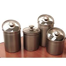 bronze kitchen canisters kamenstein brushed bronze 4 kitchen canister set free