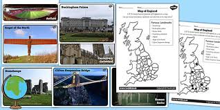 physical features of england activity sheets geography