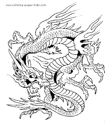chinese dragon face coloring coloring pages