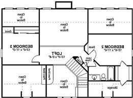 Floor Plan Of Home by Plan Of House With 3 Bed Rooms Shoise Com