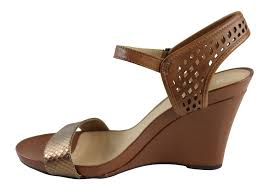 naturalizer brealyn womens leather comfort wide fit wedge sandals