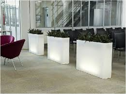 Tall Plastic Planters by Illuminated Plant Containers