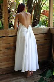 honeymoon nightgowns 100 cotton white backless nightgown lace halter bridal gown