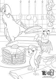 parrots cooking coloring pages for kids printable free rio 2