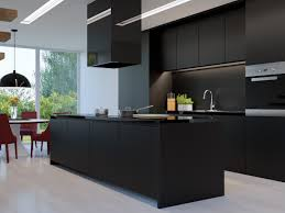 Black Modern Kitchen Cabinets Design Light Black Kitchen Cabinet With Minimalist Multi Level