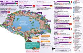 Disney World Epcot Map Epcot Center Tickets Maps And Epcot World Showcase Map