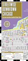 Map Of Cta Chicago by Streetwise Downtown Chicago Map Laminated Street Map Of Downtown