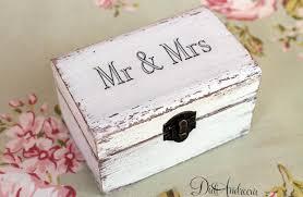 jewelry cottage chic box ring box white ring box white wedding