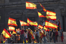 Flag Of Catalonia Thousands Rally In Madrid Urge Jailing Of Deposed Catalan Leader