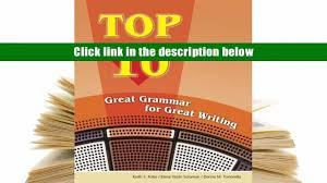 favorite book top 10 great grammar for great writing book online