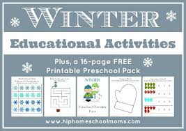 winter educational activities hip homeschool moms