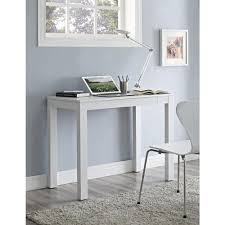 White Wood Computer Desk Altra Furniture Delilah White And Gray Desk With Storage