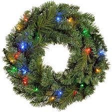 holiday time pre lit 18 christmas garland multi lights werchristmas pre lit wreath christmas decoration illuminated with 20
