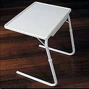 table mate tv tray adjustable tv tray table mate classic medium white 21 3 4