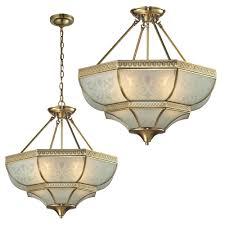 hanging ceiling lights elk 22007 4 french damask traditional brushed brass ceiling light