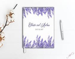 purple guest book purple guestbook etsy