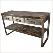 Metal And Wood Sofa Table by Industrial Sofa Table Foter