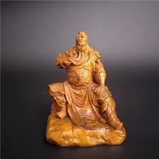 wood sculpture decor wood sculpture dynasty warriors guan yu vintage craft home
