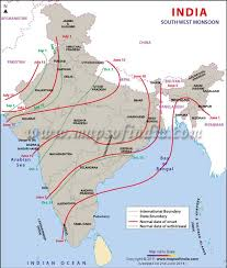 map of southwest south monsoon in india monsoon map of india 2013