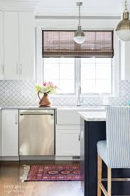 Homedepot Trellis White Moroccan Trellis Tiles By Home Depot Transitional Kitchen