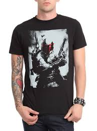 star wars boba fett red face t shirt topic