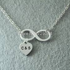 personalized infinity necklace personalized jewelry sted