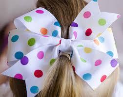 polka dot hair pinwheel hair bows the brown boutique