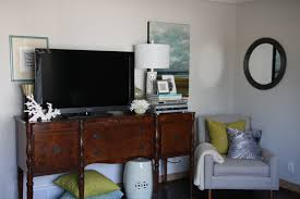 cottage modern how to decorate around a huge t v