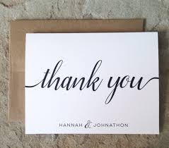 personalized thank you cards personalized thank you cards wedding thank you notes black