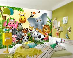 online get cheap jungle wallpaper mural aliexpress com alibaba beibehang customized children room any size wallpaper cute animal happy jungle children room background wall wallpaper mural