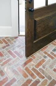Brick Floor Kitchen by Inspired By Classic Brick Floors And Walkways An Accent Wall In