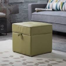 leather storage ottomans foter