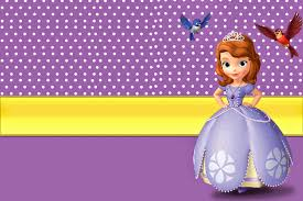 Disney Princess Invitation Cards Sofia The First Free Printable Invitations Ellie Jo U0027s Birthday