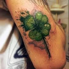 simple shamrock tattoo of four leaf clover golfian com