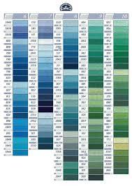 le nuancier dmc les références de couleur des fils moulinés