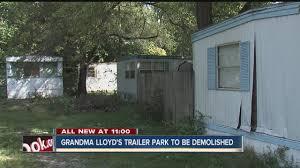 Grandma Backyard House Mobile Home Trailer Park To Be Demolished Monday Youtube