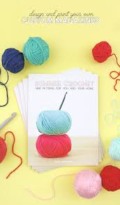 how to make and print your own magazine my summer crochet pattern