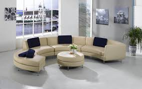 Futon Coffee Table Furniture Sleek Living Room With Curved Futon Sofa And Small