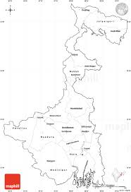 Map Of Africa Blank by Blank Simple Map Of West Bengal Cropped Outside