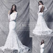 custom made illusion high neck long sleeve wedding gowns lace