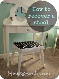 Minute Makeover Bedrooms - recover a vanity stool 5 minute makeover simply swider