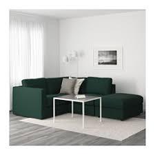 accoudoir canapé vimle canapé d angle 3 places sans accoudoir gunnared vert