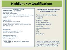 Qualification Sample For Resume by Ais Presentation 5 27 2010