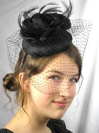 funeral hat new net black color funeral hat weddings
