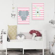 tableau déco chambre bébé décoration poster toile éléphant déco chambre enfant bébé