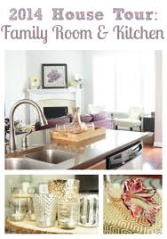 updated house tour family room and kitchen two purple couches